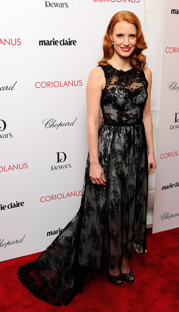 Lacy Monique Lhuillier for the Coriolanus premiere.