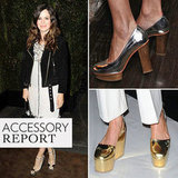 Celebrities Metallic Shoes