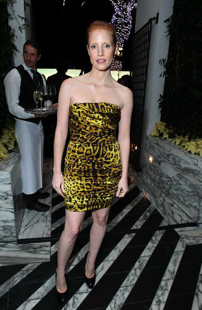 A bold leopard-print mini at an InStyle party in December 2010.