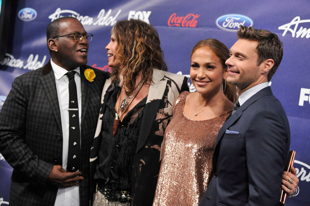 Jennifer Lopez, Randy Jackson, Ryan Seacrest, and Steven Tyler partied together at the Grove.
