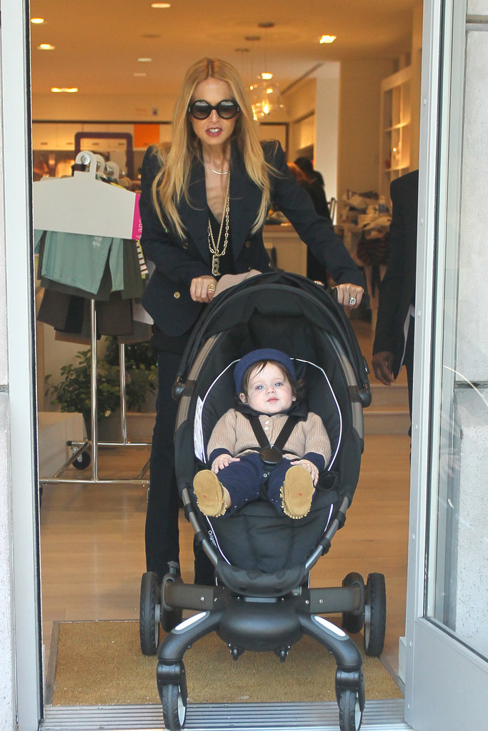 Rachel Zoe wheeled Skyler Berman out of a boutique.
