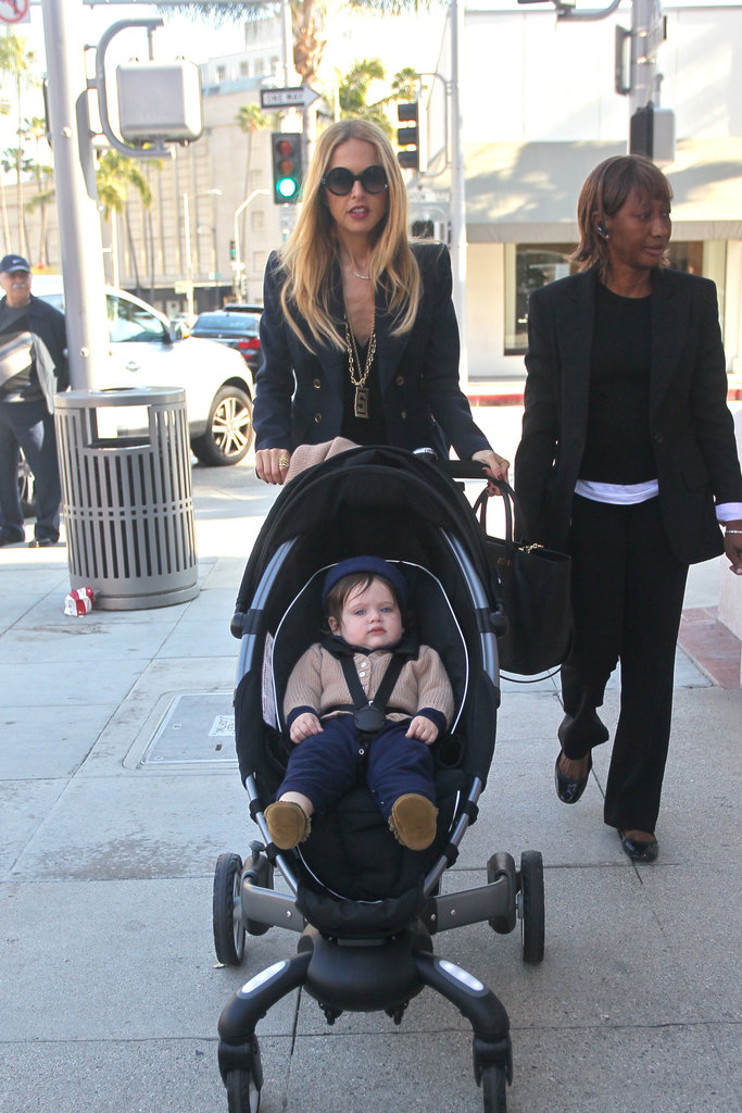 Rachel Zoe pushed Skyler Berman in his stroller.