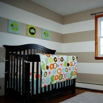 Rugby-Stripe Baby Nursery Makeover