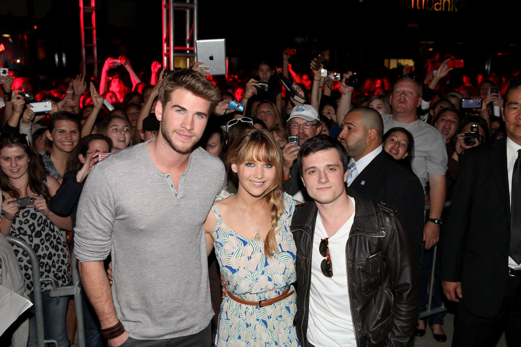 Jennifer Lawrence, Josh Hutcherson and Liam Hemsworth Kick Off Hunger Games Tour in LA