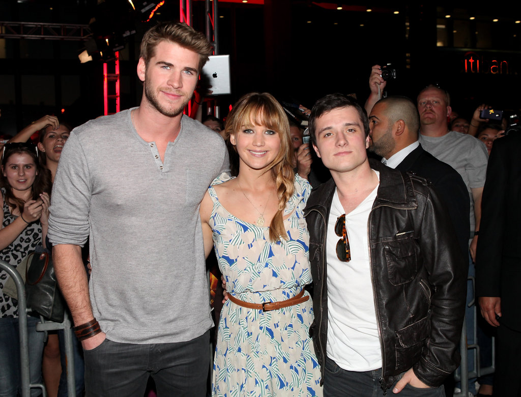 Jennifer Lawrence  Liam Hemsworth  Josh Hutcherson PicturesJosh Hutcherson And Jennifer Lawrence Together