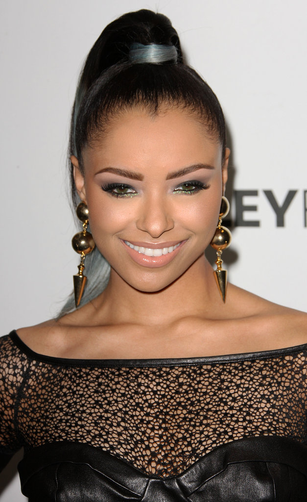 Kat Graham wore bold earrings.