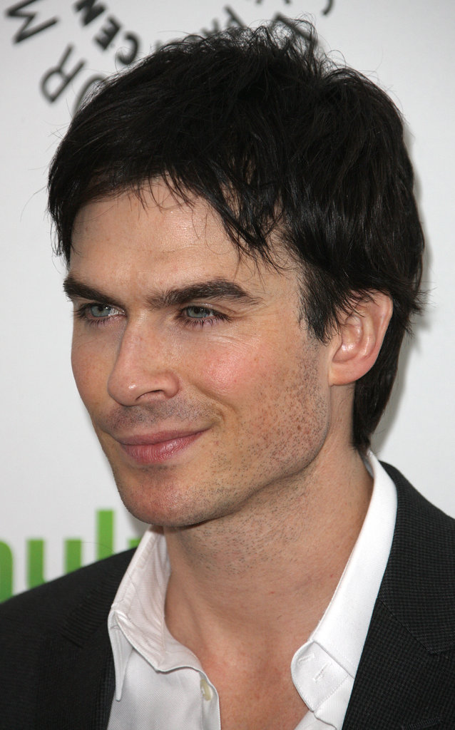 Ian Somerhalder flashed a smile to photographers.