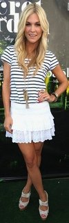 Tinsley Mortimer Ruffled White Skirt