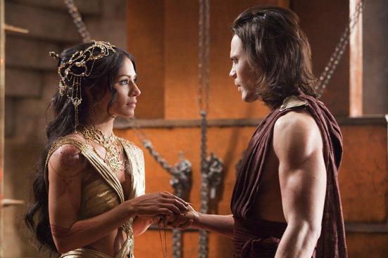 Lynn Collins and Taylor Kitsch in John Carter. Image courtesy of Walt Disney Pictures