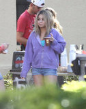 Vanessa Hudgens started her morning with some coffee.
