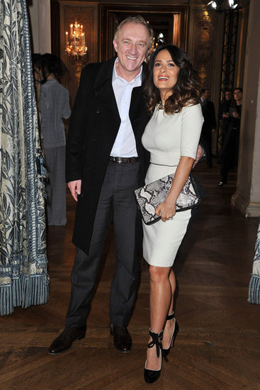 François-Henri Pinault and Salma Hayek attended the Stella McCartney Fall 2012 show.