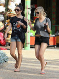Vanessa Hudgens walked around Busch Gardens with Ashley Benson.