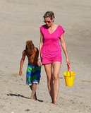 Heidi Klum and Henry Samuel hit the beach.