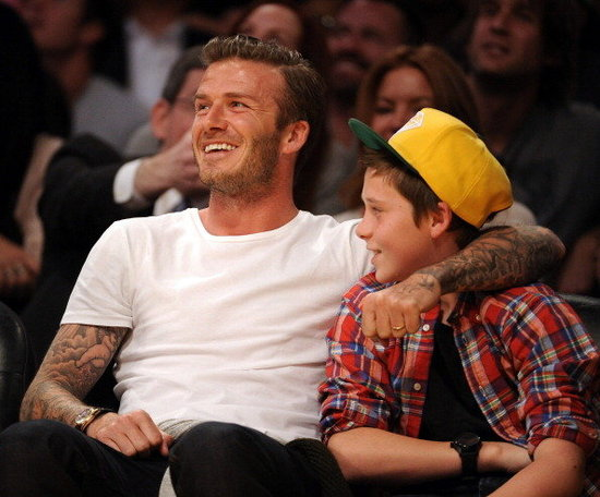 David Beckham Treats Birthday Boy Brooklyn to a Lakers Game