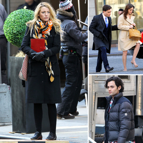 Blake Lively and Crew Get Down to Business While Filming Gossip Girl in NYC