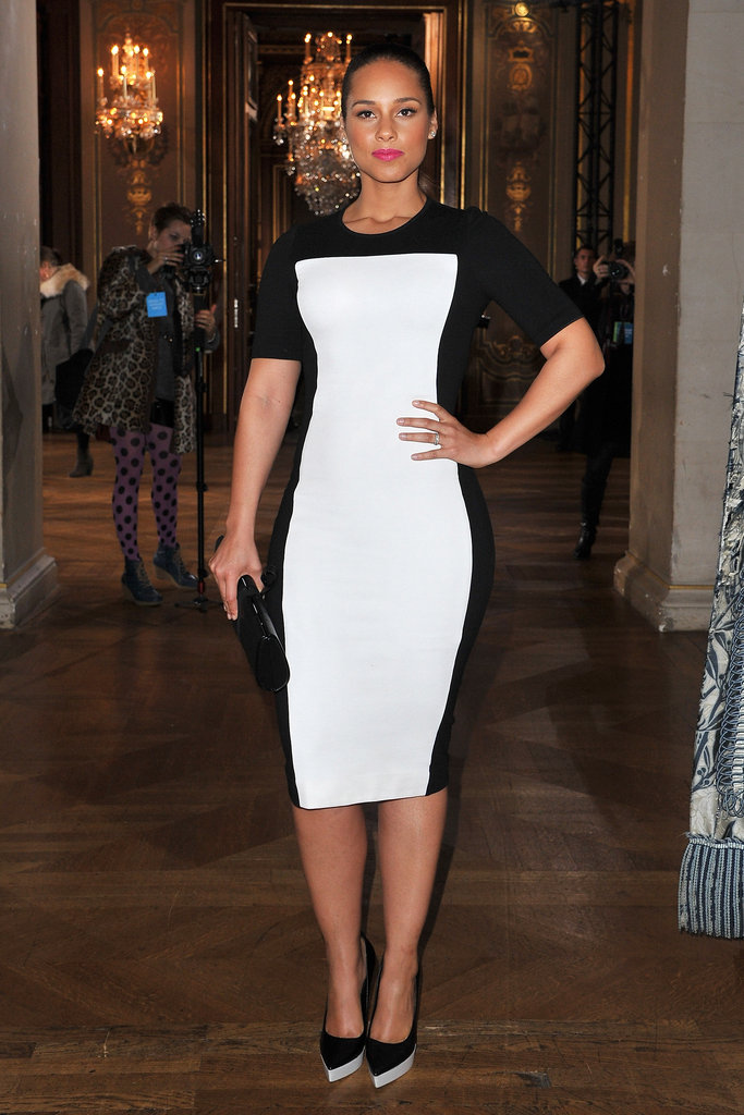 Alicia Keys wore Stella McCartney.