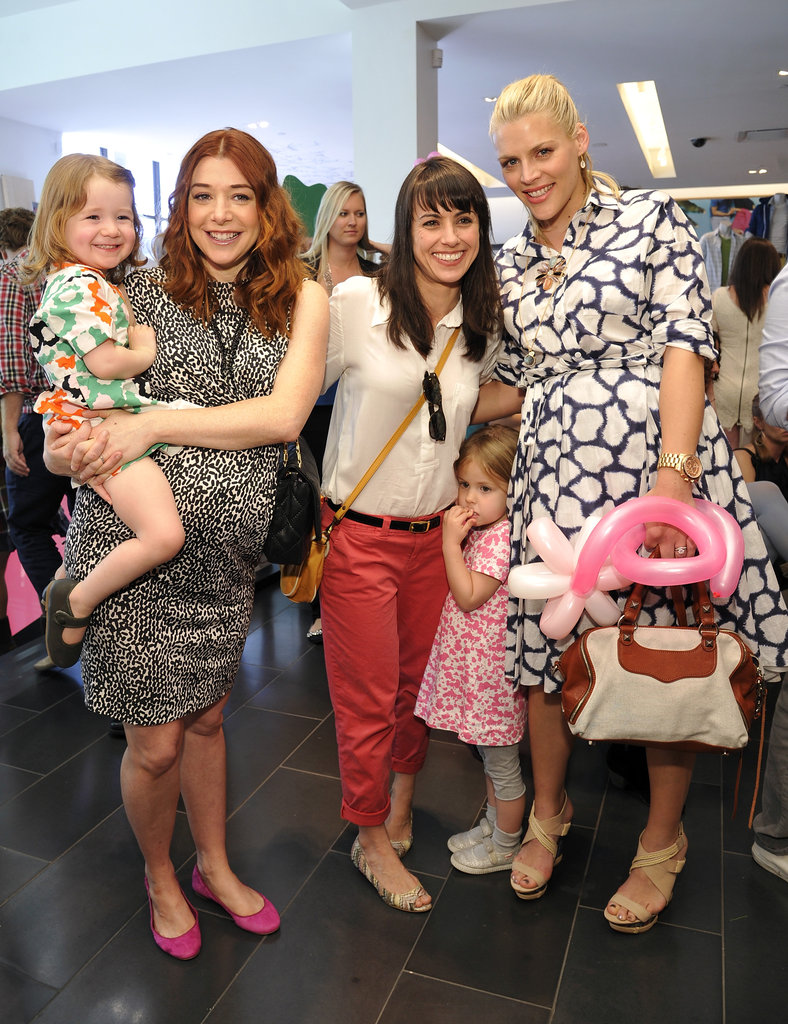 Alyson Hannigan, Satyana Denisof, Constance Zimmer, Colette Lamoureux, and Busy Philipps all shopped at the DVF for Gap launch event.