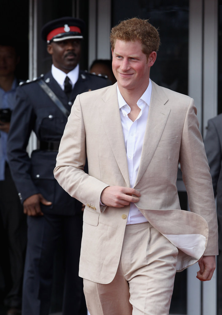 Prince Harry looked relaxed at a youth rally in the Bahamas.