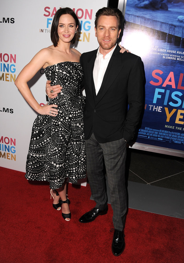 Emily Blunt and Ewan McGregor costar in Salmon Fishing in the Yemen.