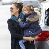 Jessica Alba and Honor in LA.