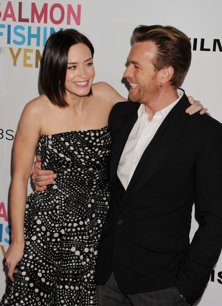 Emily Blunt and Ewan McGregor shared a laugh.