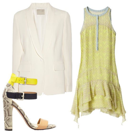 White Blazer + Dress