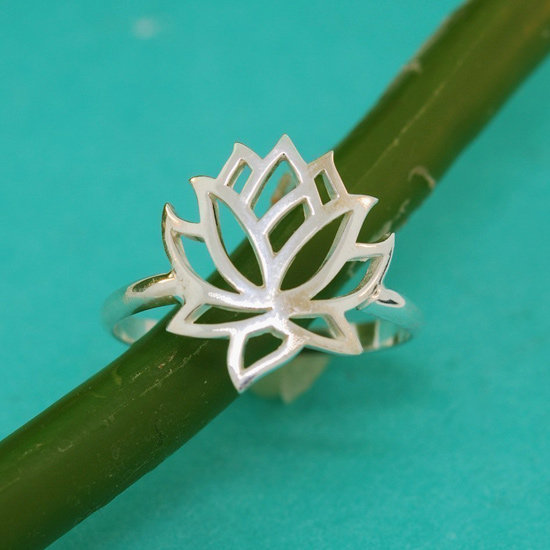 Full Lotus Flower Ring
