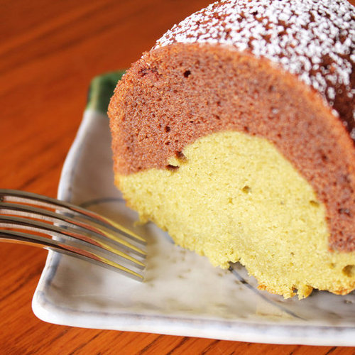 Chocolate-Matcha Green Tea Mochi Bundt Cake Recipe
