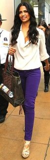 Camila Alves Purple Jeans