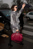 Miranda Kerr hailed a taxi between shows.