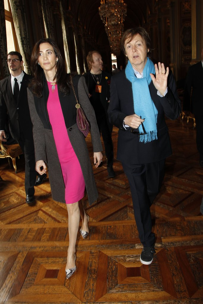 Paul McCartney and Nancy Shevell left Stella McCartney.