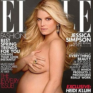 Jessica Simpson Pregnant and Nude on Elle Magazine Video