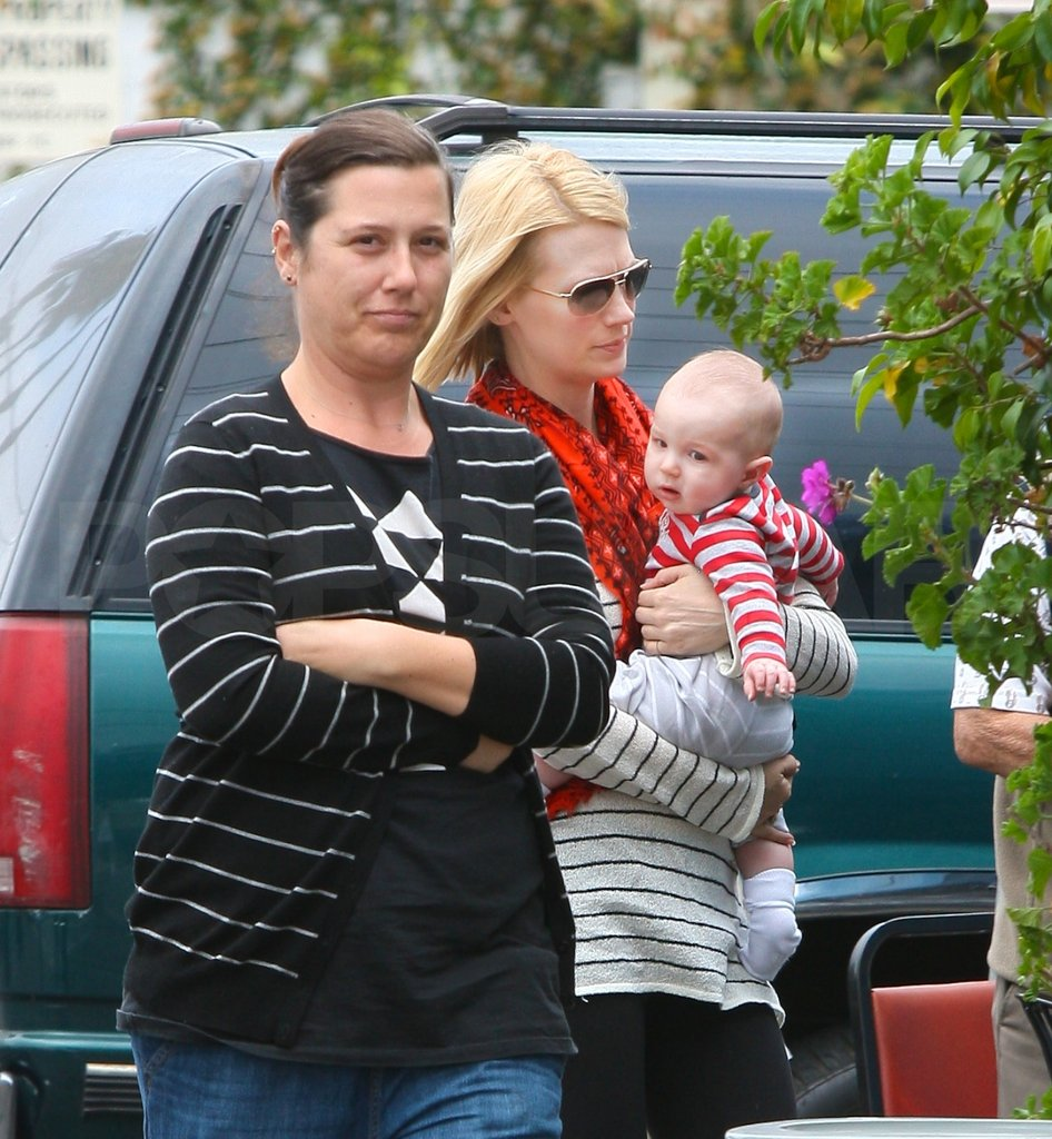 January Jones lunched with son Xander Jones.