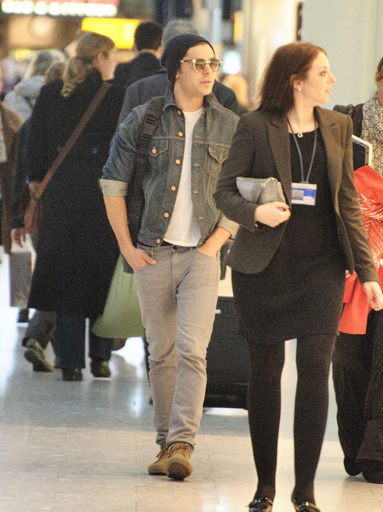 Zac Efron in a jean jacket.