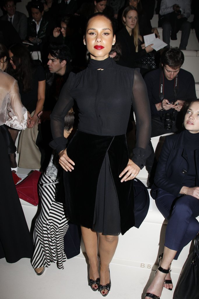 Alicia Keys checked out Valentino.