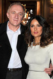 Salma Hayek and Francois-Henri Pinault posed at Stella McCartney.