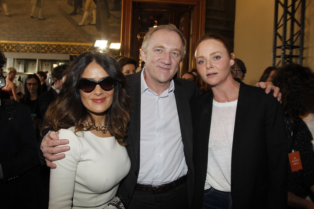 Salma Hayek and Francois-Henri Pinault posed with Stella McCartney.