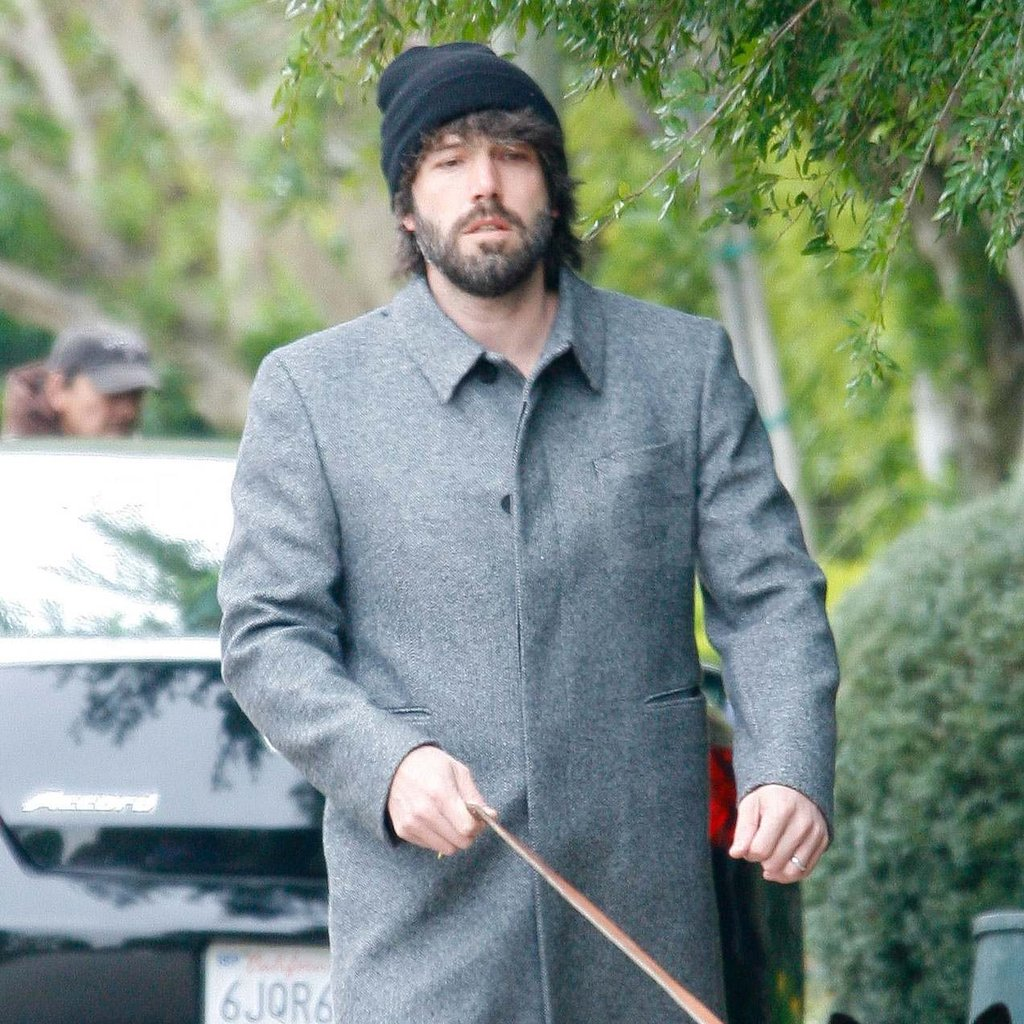 Ben Affleck walking his dog.