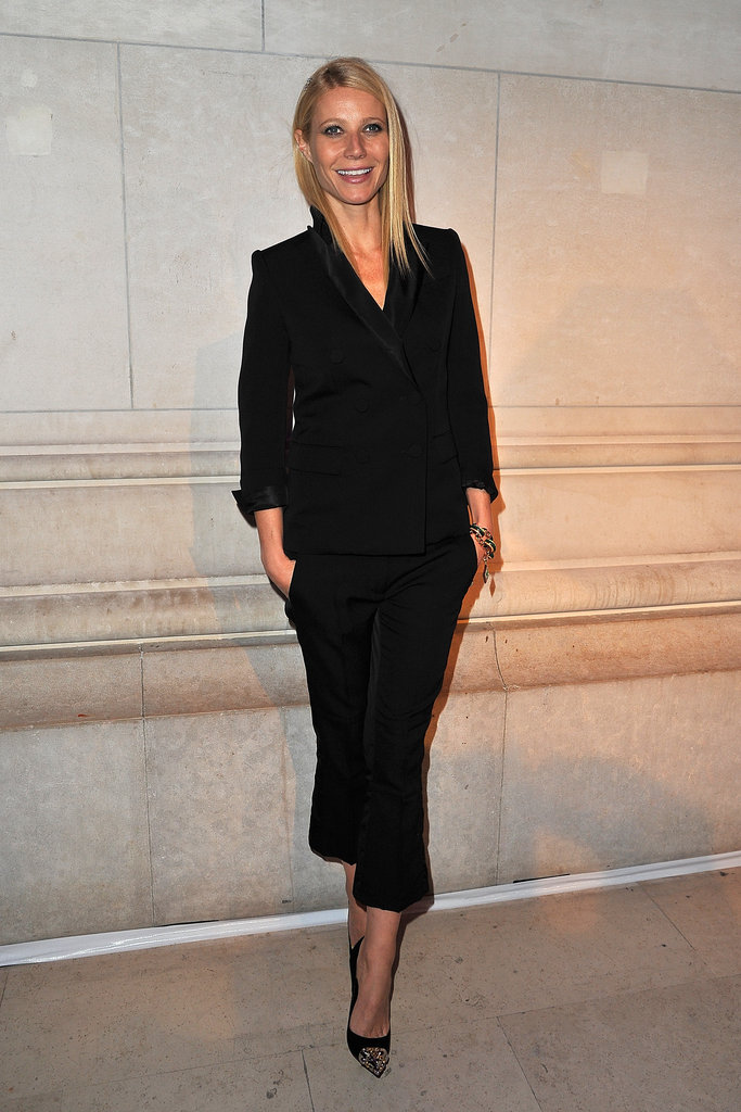 Gwyneth Paltrow played it safe in a slick all-black ensemble.