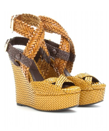 Burberry Prorsum Woven Leather Wedges ($1,685)