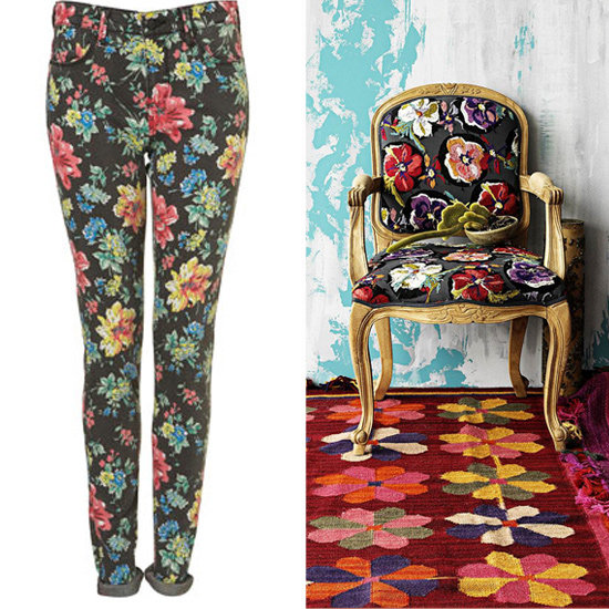 These vibrant Topshop Floral Leigh Jeans ($90) are a fantastic match with the floral patterns dominating the Grafton Chair ($700). Wear them while taking a seat in this comfortable armchair and blend into the decor!