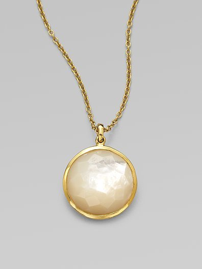 Ippolita 18K Gold Mother-of-Pearl Pendant Necklace