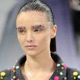 Miranda Kerr Wears Semi-Precious Eyebrows at Chanel