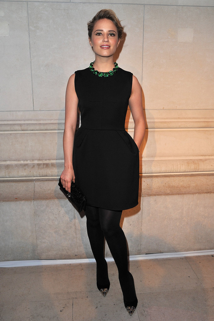 Glee's Dianna Agron celebrates the opening of Marc Jacob's Louis Vuitton Exhibit in Paris.