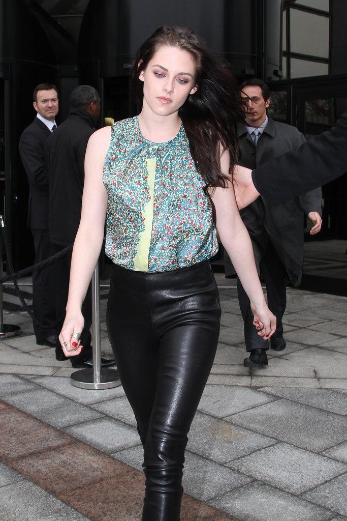 Kristen Stewart attended Balenciaga.