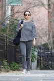 Keri Russell walks to her Brooklyn home after running errands.
