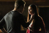 Nina Dobrev as Elena and Paul Wesley as Stefan in The Vampire Diaries.  Photo courtesy of The CW