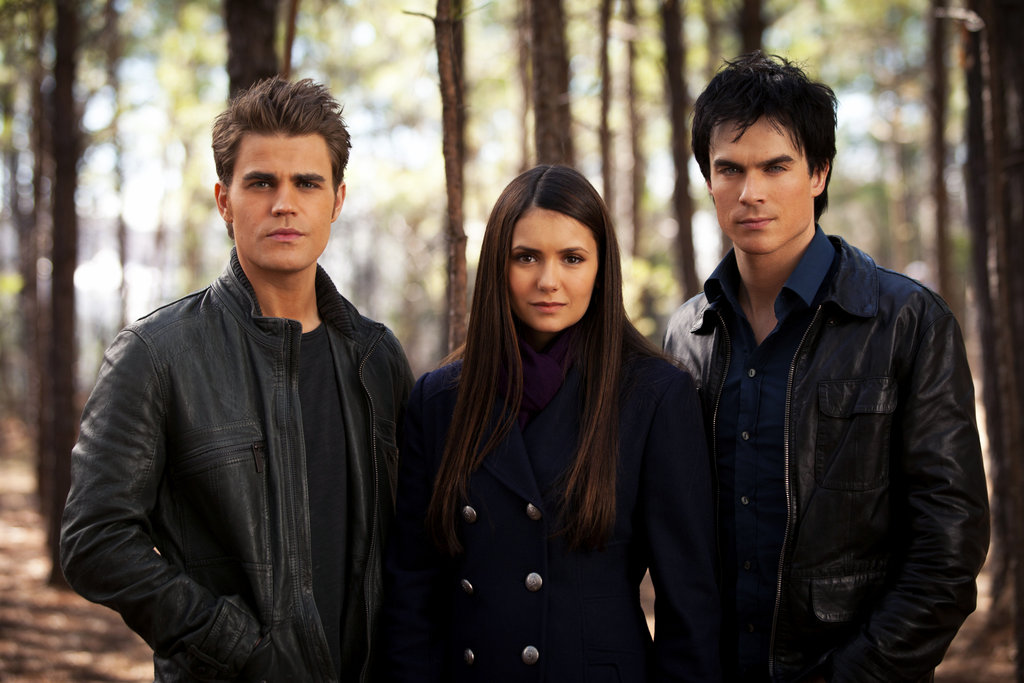 Paul Wesley as Stefan, Nina Dobrev as Elena, and Ian Somerhalder as Damon in The Vampire Diaries. Photo courtesy of The CW