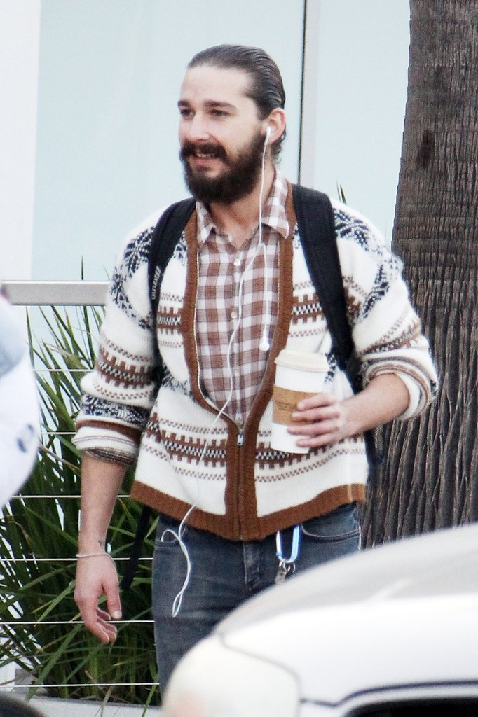 Shia LaBeouf's new look.