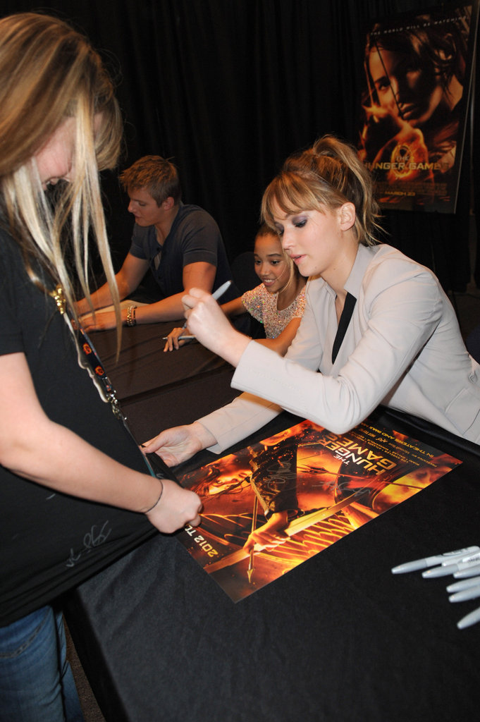 Jennifer Lawrence signed autographs.